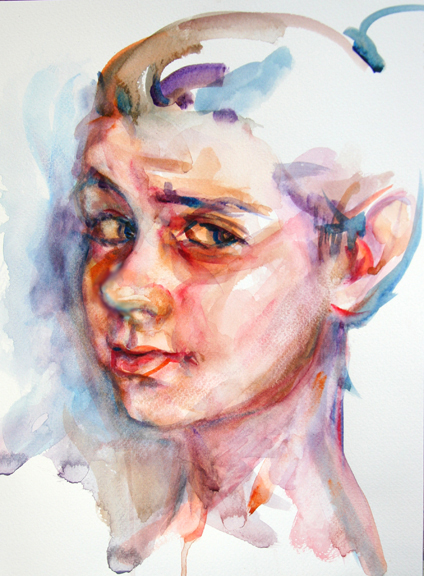 watercolor portrait of young woman elenacaravela 39 s blog